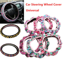 Decoration cars online shopping - Neoprene Sunflower Pattern Universal Car Steering Wheel Cover for party Wedding car decoration and Gifts Slip Wheel Cushion Protector
