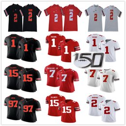 Buckeyes jerseys online shopping - NCAA OSU Justin Fields Dwayne Haskins Jr JK Dobbins Chase Young Joey Bosa Ezekiel Elliott Ohio State Buckeyes College Football Jerseys