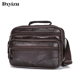 ipad mini bag men NZ - Men Bag Genuine Leather Top-handle Handbag Men Mini Ipad Bags Male Shoulder Crossbody Bags Messenger Small Flap Casual Handbags Y19061903