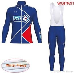 jersey fdj 2019 - FDJ team Cycling Winter Thermal Fleece jersey (bib) pants sets women Keep warm Mountain Bike high quality Quick Dry Ropa