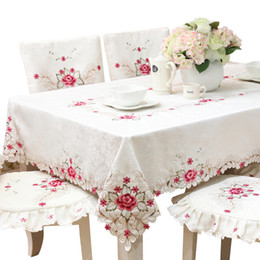 table cloth wholesale Australia - Europe Hot Sale Elegant Embroidered Lace Tablecloth For Wedding Party Home Table Cloth Cover Textile Decoration