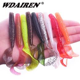 $enCountryForm.capitalKeyWord Australia - 5Pcs lot Worm soft baits Flexible jig Curly Tail 9cm 4.3g 9colors Silicone Simulation Earthworm Worms Shrimp Salt Fishing lure