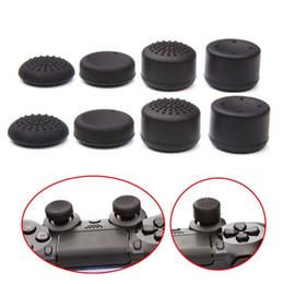 Silicone aumento da altura 8 pçs / lote joystick polegar vara apertos tampões botões para ps4 ps3 xbox gamepads lidar com anti-derrapante à prova de poeira roqueiro chapéus venda por atacado