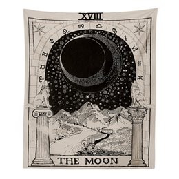 $enCountryForm.capitalKeyWord Australia - New Magic Tarot Style Wall Hanging Tapestry Sun Moon Star Magical Polyester Large Tapestries Cover Crafts For Home Bedroom Decor