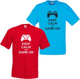 blue xbox NZ - KEEP CALM & GAME ON 360 XBOX ONE PS3 PS4 FUNNY MENS T SHIRT S-3XL PLAYSTATIONFunny free shipping Unisex Casual Tshirt top
