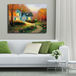 $enCountryForm.capitalKeyWord Canada - Thomas Kinkade The Blessings Of Autumn HD Wall Art Canvas Poster And Print Canvas Painting Decorative Picture For Bedroom Home Decoracion