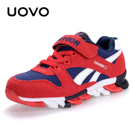 $enCountryForm.capitalKeyWord NZ - Uovo Spring Autumn Boys Sneakers Children Shoes Canvas Man-made Suede Kids Running Shoes Fashion Kids Sport Footwear Size 29-37# Y190525