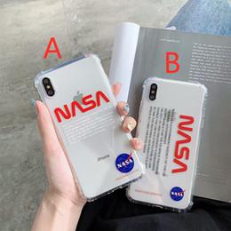 venda por atacado NASA US rua tendência do espaço do astronauta Soft-off tampa de silicone para iphone 11 pro max 6 S 7 6S 7plus 8 8plus X XR XS branco caixa do telefone Max