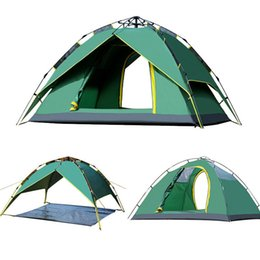 tent one person Canada - Camping Tent Double Layer UV Protection 1-2 Person Waterproof Folding Automatic Pop Up Outdoor Camping Tent