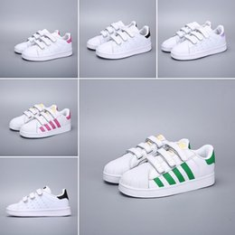 $enCountryForm.capitalKeyWord NZ - Superior quality 2019 Originals Superstar White Hologram Iridescent Junior Superstars 80s Pride Super Star Women Kids Casual shoes