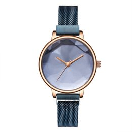 Chinese  2019NEW TOP Luxury Fashion Women's Watches Stainless Steel Brand Dress Leisure fake Watch Magnet Watchband Japanese Quartz Motors 16 Colors manufacturers