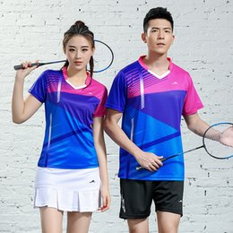 2019 Badminton Serve Suit Ping Pong Feather Net Volleyball Serve Sports Clothes Sweat Absorbing Speed Do on Sale