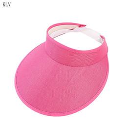 8c95fde29d17e Womens Summer Outdoor Sun UV Protection Visor Beach Hat Open Top Stretchy  Linen Clip On Bucket Cap Ultra Wide Brim Beachwear