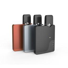 Metal shapes online shopping - CigGo J Box Kit E Cigarette Card shape Vaporizer mah Vape Mod For Oil E liquid Pods Fit J Pen Bauway M Authentic