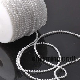 $enCountryForm.capitalKeyWord Australia - Fishing Line Artificial White Pearls Beads Chain Garland Flowers Wedding Party Decoration 5 Meters CP0319x