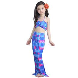 69edb194adb32 3PCS Girls Mermaid Tail Swimwear Baby Kids Princess Dress Bathing Beach  Swimsuits Cosplay Costume Child Swimwear Bikini Clothes