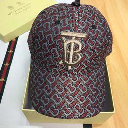 $enCountryForm.capitalKeyWord Australia - New Fashion Designer Hats Caps Mens Womens Baseball Cap Luxury B Letter Embroidery Brand Printing Caps Adjustable Hats High Quality with Box