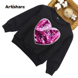 $enCountryForm.capitalKeyWord NZ - Girls Tops Long Sleeve T-shirts Girls Changeable Sequins Boys Outerwear Spring Autumn Teenage Kids Sweatshirt 2 8 9 10 12 Years J190427