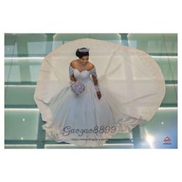 $enCountryForm.capitalKeyWord Australia - 2019 Princess 3D flowers ball gown wedding dresses court long train sheer scoop neck long sleeves african church formal bridal wedding gowns