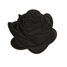 $enCountryForm.capitalKeyWord UK - Embroidery Patches Sew Iron On Flower Black Rose Patch Embroidered Badges For Bag Jeans Hat T Shirt DIY Appliques Craft Decoration