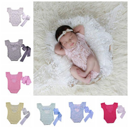 petti romper baby boy UK - Kids Clothes Boys Girls Summer Rompers Newborn Baby photography prop lace romper Toddler Cute petti Jumpsuits Infant Soft Bodysuits LT636