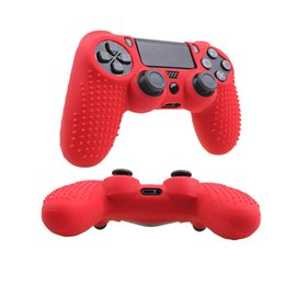 China Studded Anti-slip Silicone Cover Skin for Sony PlayStation4 Dualshock 4 PS4 Slim Controller & Stick Grip Caps Joystick Cover suppliers