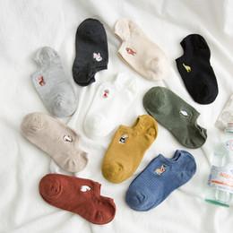 $enCountryForm.capitalKeyWord Australia - Hosiery Socks Shallow Mouth Lovely Thin Embroidery Baitao Cartoon Women Socks Cotton Invisible Cute Animal Ankle Har