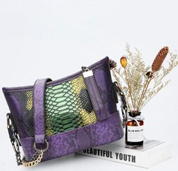 Color Leather Bags Australia - Wholesale brand women handbag new serpentine stray bag elegant contrast color shoulder Messenger bag fashion color leather shoulder bag