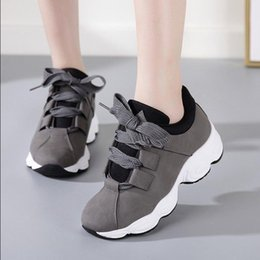 black running shoes for women NZ - Hot Sell Running Shoes for Women Height Increasing Women Platform Sneakers Black Light Sport Shoes Zapatillas Mujer Deportiva -15