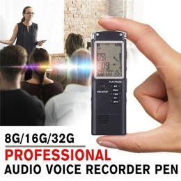 Telephone Audio Australia - 8G 16G 32G Rechargeable Recording Pen Digital Audio Voice Recorder Dictaphone Telephone MP3 Player