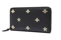 $enCountryForm.capitalKeyWord UK - men's cow leather bee star pattern long wallet wallet 495064DJ2KT
