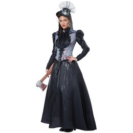 Black Dress Costumes Australia - S-XL Black Halloween Vampire Costumes For Woman Female killer Cosplays Purim Carnival Christmas Masquerade Role play Party dress