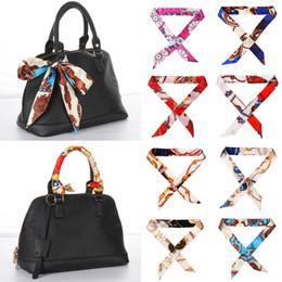 Headbands Bow Australia - Women Fashion Silk Scarf Bag Belt Strap Floral Headband Bow Tie Ribbon Handle Twill Handbag Decoration Accessories