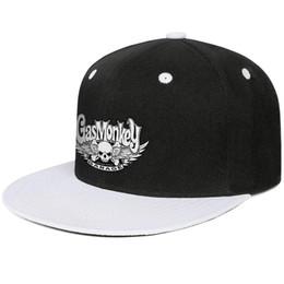 f023002a2 Roll Brim Hats Australia - Gas Monkey Garage logo Design Hip-Hop Caps  Snapback Flat