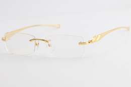 Wholesale Hot Free Shipping 5102338 Gold Rimless leopard series Eyeglasses Women Fashion Eyewear with box C Decoration gold frame Size:54-16-138mm