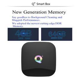 play store box 2019 - Q Plus Android 9.0 TV Box 6K Smart TV Box 4GB RAM 64GB Allwinner H6 Quad Core H.265 USD3.0 2.4G Wifi Google Play store Y
