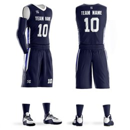 78e697120 Black Jersey Basketball Shorts Canada - Custom Men Youth Basketball Sets  2018 Sleeveless Sports Tank Top