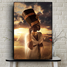 art canvas prints Australia - Black and Gold Nude African Art Woman Sunset Oil Painting on Canvas Cuadros Posters and Prints Wall Art Picture No Framed
