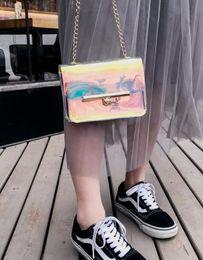 $enCountryForm.capitalKeyWord Australia - fashion New Women PVC Chain Bag Laser Transparent Clear Tote Shoulder Crossbody Handbag Bags