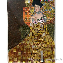 gold framed paintings Australia - Gustav Klimt of Adele Bloch-Bauer I gold Handpainted & HD Print Classical Portrait Art Oil Painting On Thick Canvas Multiple Sizes p17