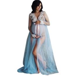 1fbd5ab93fb4e Dresses Woman Pregnant Photography UK - Women Lace Maternity Dress  Maternity Photography Props Lace Pregnancy Clothes