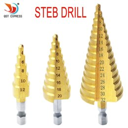 $enCountryForm.capitalKeyWord Australia - 4 12 4 20mm 4 32mm Metric Spiral Flute Step HSS Steel 4241 Cone Titanium Coated Drill Bits Tool Set Hole Cutter