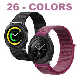 Milanese Loop For Gear Australia - 20MM-22MM 38MM-40MM-42MM-44MM Nylon Milanese Loop Band For Apple Watch 4 3 2 1 Samsung Galaxy Watch 42MM-46MM Gear S3 S2 Classic