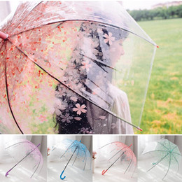 $enCountryForm.capitalKeyWord Australia - Clear Cute Bubble Deep Dome Umbrella Apollo Cherry blossom Umbrellas Gossip Girl Wind Resistance Umbrella Household Sundries Umbrellas SF94