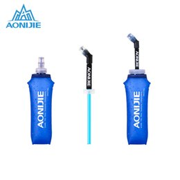 foldable water bottle bpa free Australia - AONIJIE Durable BPA-Free Foldable Soft Water Bag Portable Kettle Outdoor Sports Travel Hiking Water Bottle 170ml 250ml 500ml