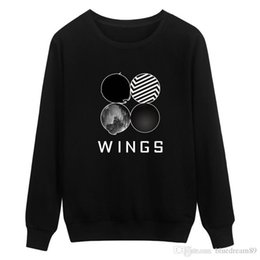 wing tracksuits NZ - New sweatshirts woman bulletproof youth group WINGS letter pattern sweatshirt round neck long sleeve sweater cute tracksuits women clothes