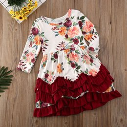 kids max NZ - Christmas Toddler Kids Baby Girls Xmas Party Floral Ruffle Swing Dress Clothes
