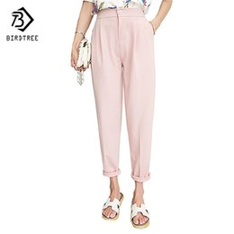 pink harem trousers UK - Summer Autumn Students Ladies Harem Pants Cuffs High Waist Black Pink Cool Thin Trousers Plus Size Xxxl 3xl B67223r Y19070101