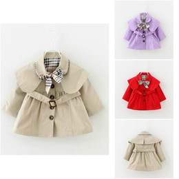 England stylE coat online shopping - Baby Girls Coat Trench Spring Autumn Tops Kids Trench Jacket Outerwear Coat Children Clothing Long Sleeve Trenches