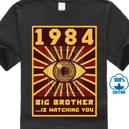 $enCountryForm.capitalKeyWord Australia - 1984 Big Brother T Shirt Men Black Tops Graphic Tshirt Horus Eye Wholesale Discount Vintage Tees 80s T Shirts Funny Hipster Streetwear